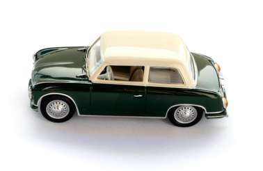 IST020 Автомобиль AWZ P70 Limousine (1955) Green & Cream1/43